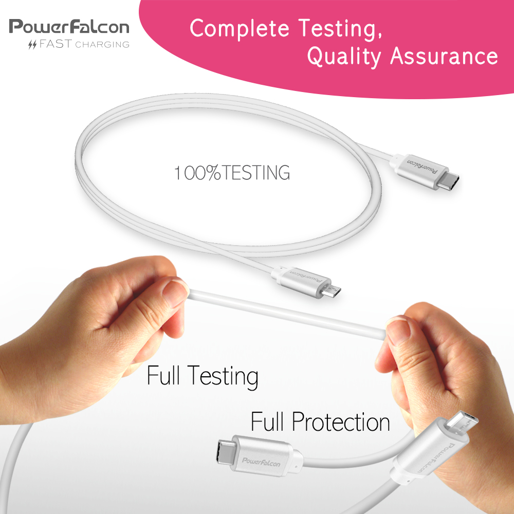 powerfalcon usb-c to micro-usb charging & data cable (include commercial  package)(6-pack)